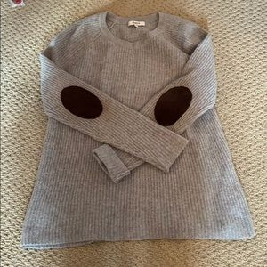 Madewell sweater with suede elbow patches